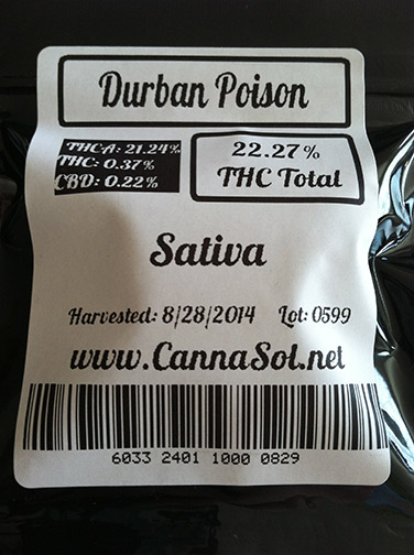 Durban-Poison-CannaSol-Farms-back-of-packaging