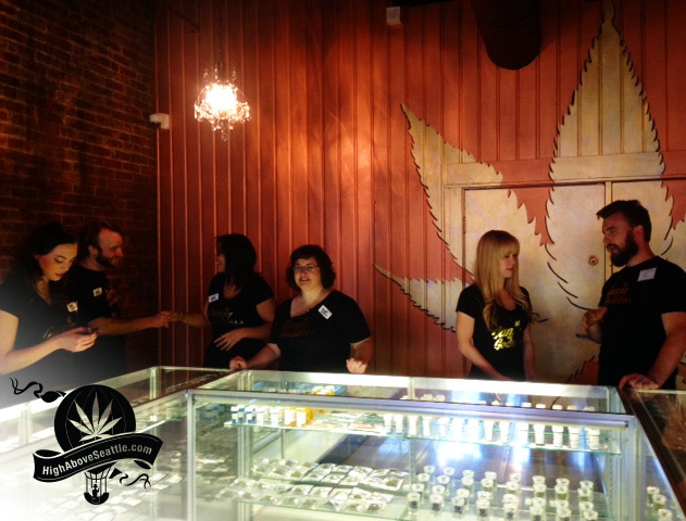 Ganja Goddess - recreational marijuana store - in Industrial District SODO area of Seattle.