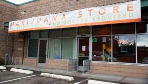 Grass recreational marijuana store in North Seattle