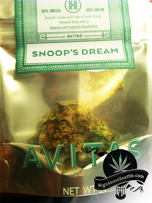 Avitas Agriculture Snoop's Dream  marijuana review
