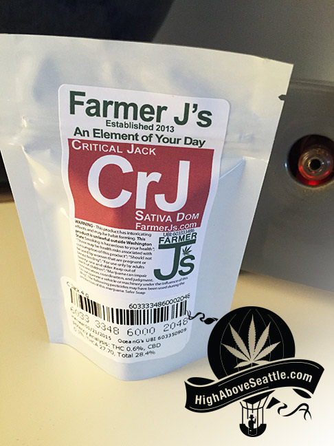 Seattle marijuana review: Critical Jack by Farmer J's at Ocean Greens