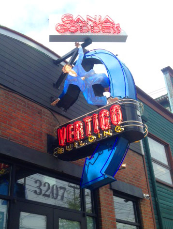 Ganja Goddess adds their sign to the iconic Vertigo sign