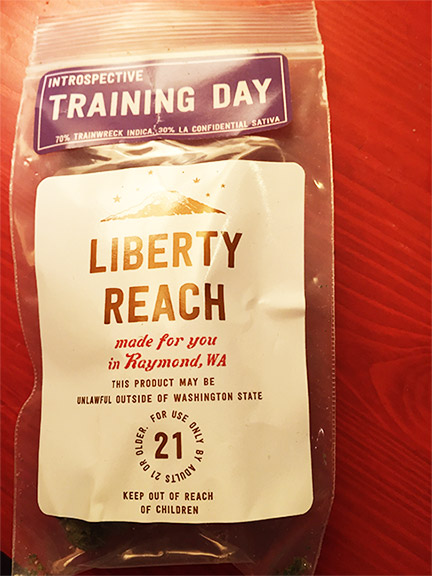 Liberty Reach Training Day marijuana review
