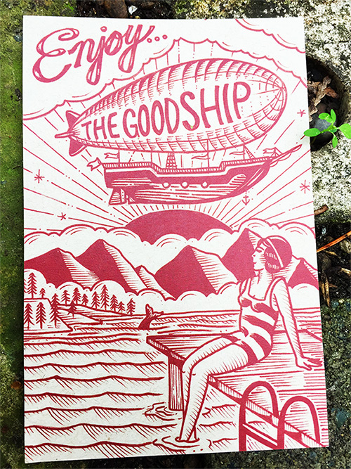 The Goodship Company postcard