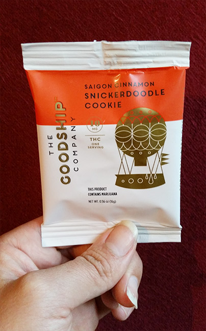 Saigon snickerdoodle cookie The Goodship Company cannabis infused cookie