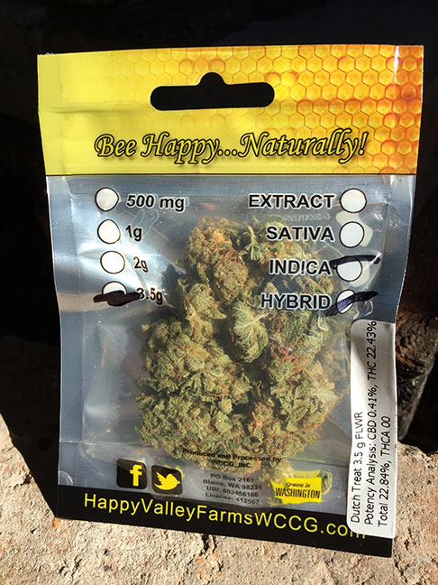 marijuana review Happy Valley Farms Hashtag Seattle Dutch Treat