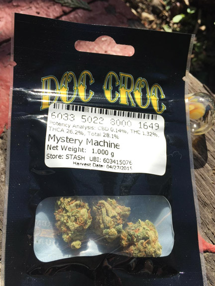 Marijuana review: Mystery Machine by Doc Croc  sold at Stash Pot Shop in Ballard