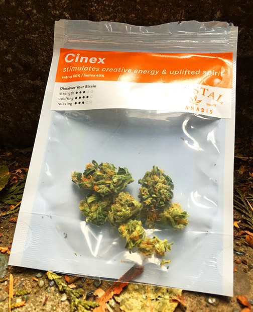 Marijuana Review Cinex by Coastal Cannabis sold at Have a Heart Skyway