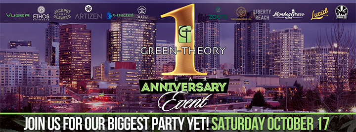 Green theory one year anniversary party