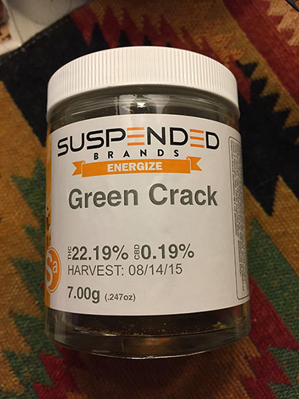 Marijuana review: Suspended Brands, Green Crack