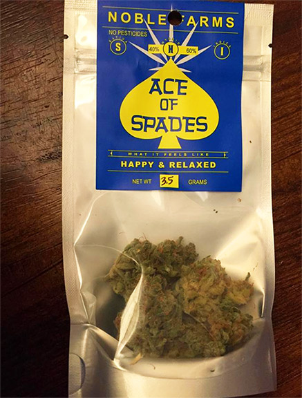 Ace of Spades Noble Farms Marijuana review
